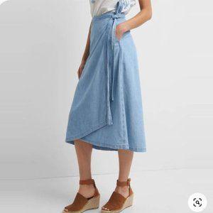 NWT GAP Denim Wrap Long Skirt Sz Medium